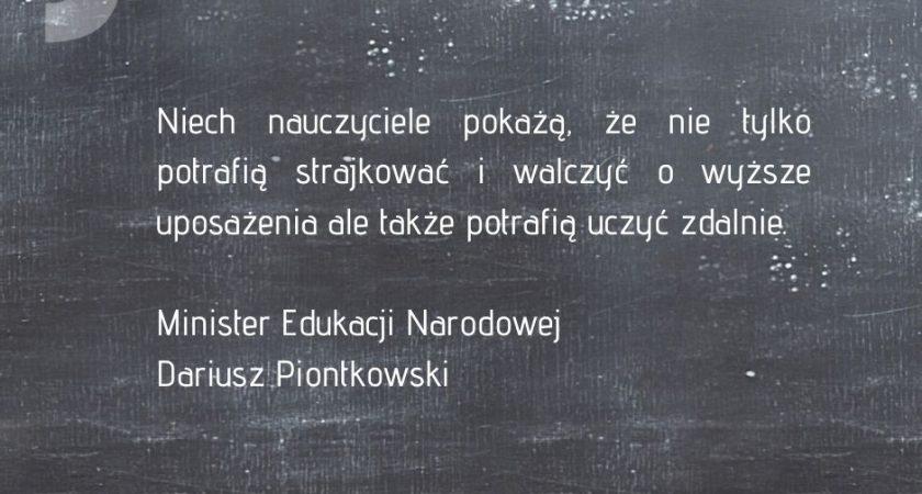 Ruch Ja, Nauczyciel do Ministra –  NauczaMy zdalnie!