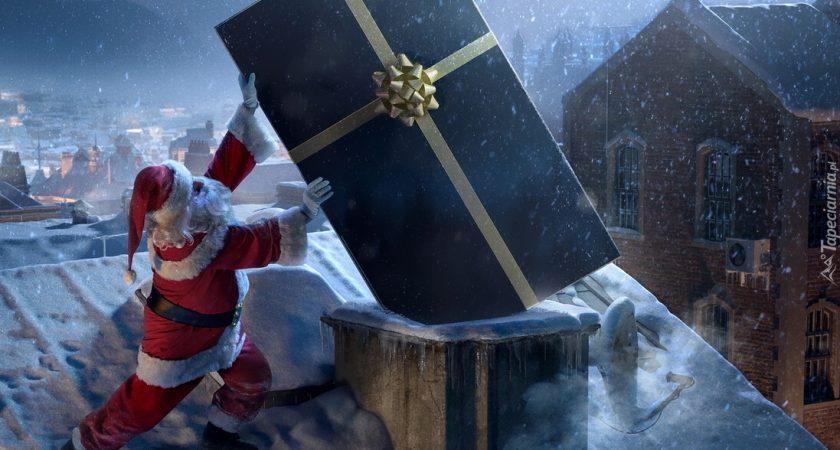 A Mikołaj wchodzi kominem…